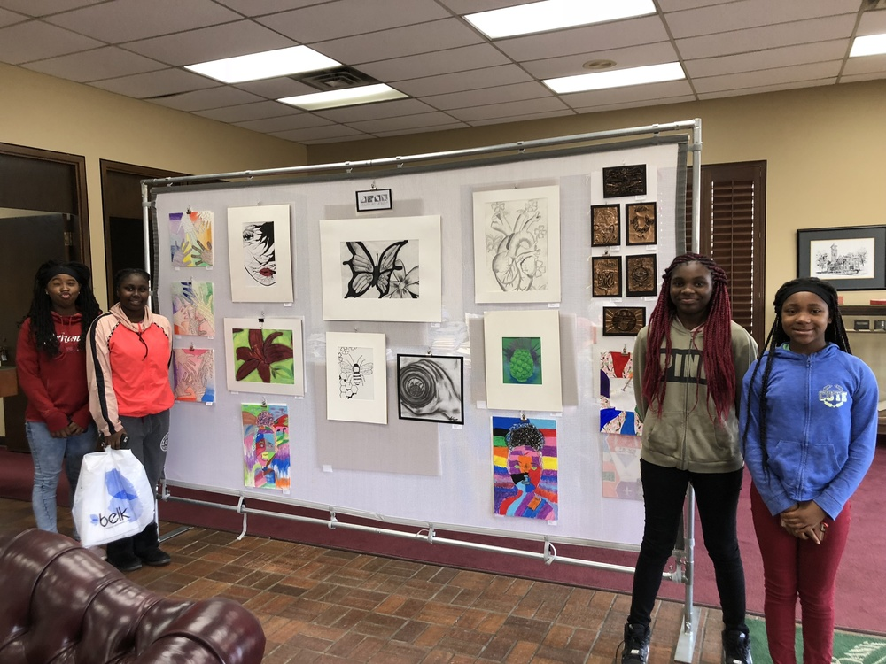 CHS students display art at Merchants and Planters Bank